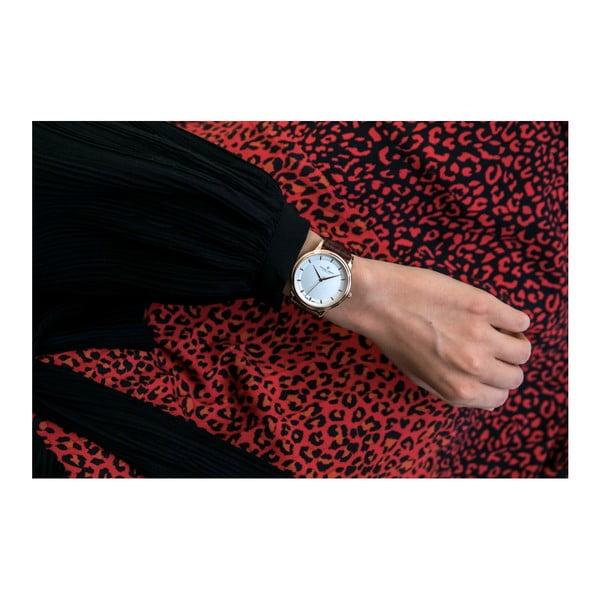 Unisex hodinky s hnědým páskem z pravé kůže Frederic Graff Croco Margo