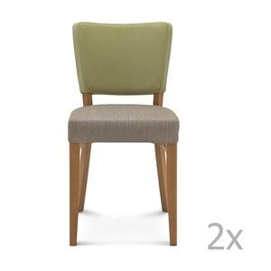 Sada 2 dřevěných židlí Fameg Mia