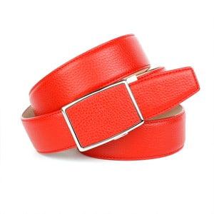 Dámský kožený pásek 18T60 Red, 85 cm
