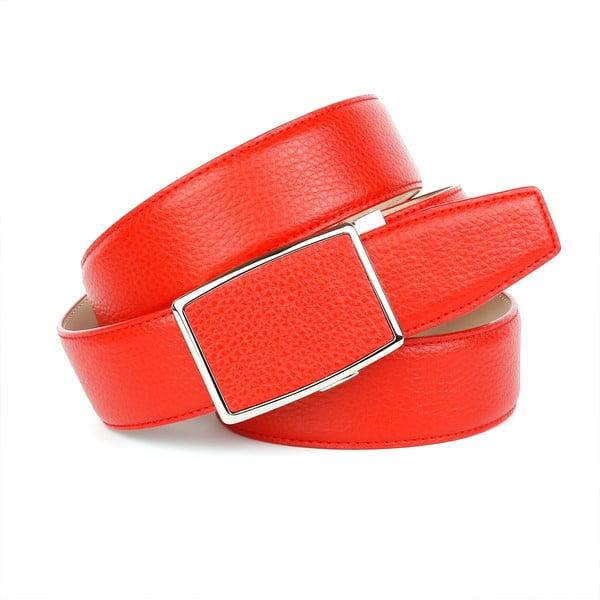 Dámský kožený pásek 18T60 Red, 100 cm