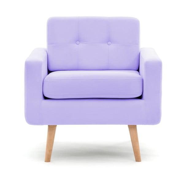 Fotoliu Vivonita Ina, violet pastel