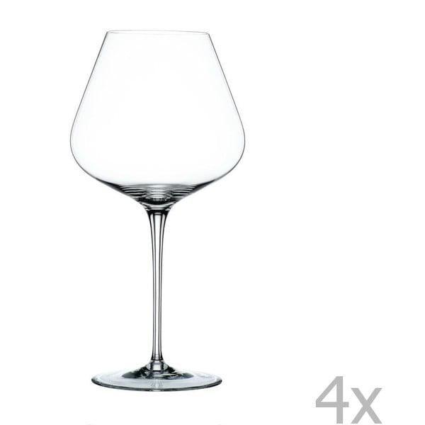 Sada 4 sklenic na červené víno z křišťálového skla Nachtmann ViNova Balloon, 840 ml