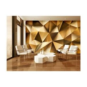 Velkoformátová nástěnná tapeta Vavex Golden Poly, 416 x 254 cm