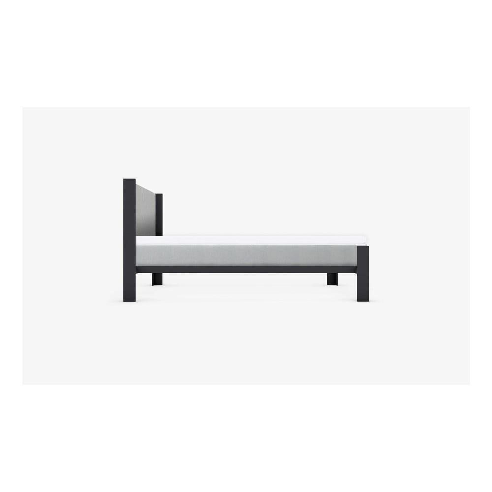 Šedé čelo postele muun, šířka 140 cm