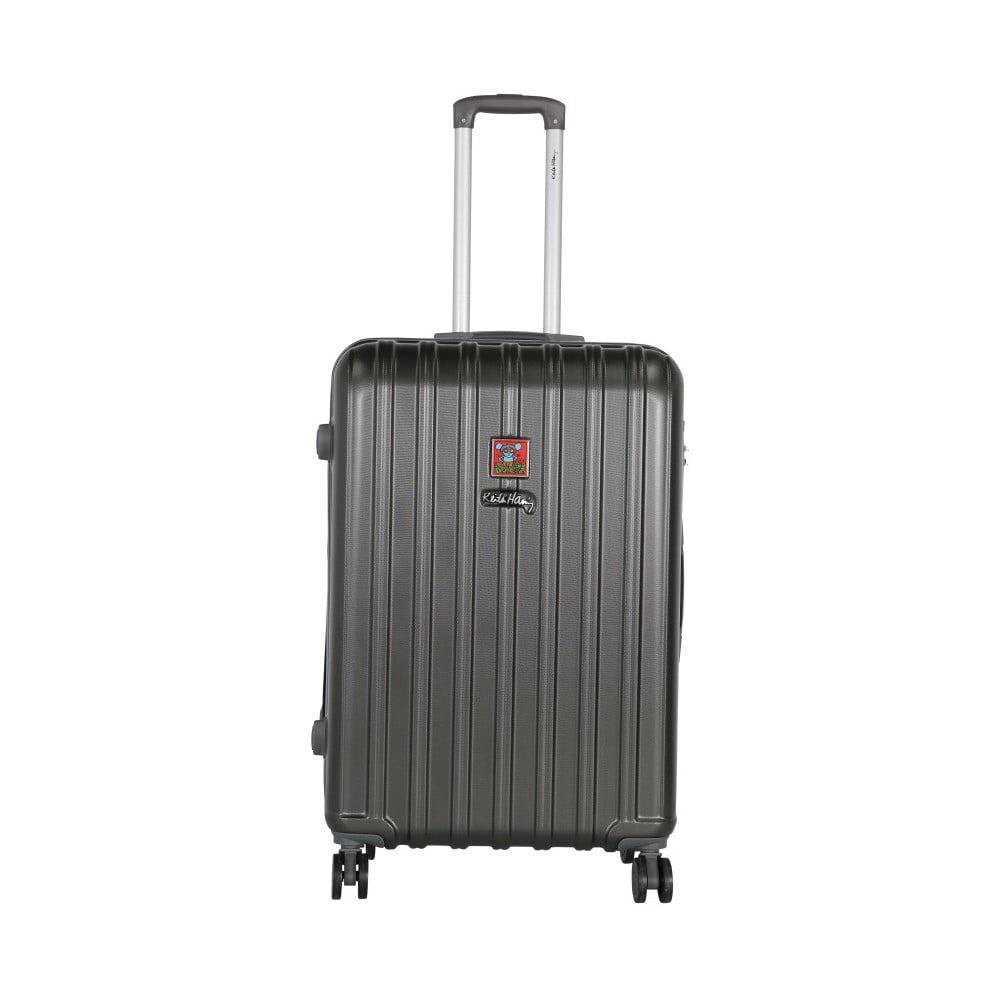 Tmavě šedý cestovní kufr LULU CASTAGNETTE Edge, 107l