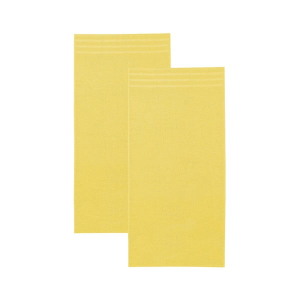 Set žlutých osušek, 30x50 cm, 2 ks