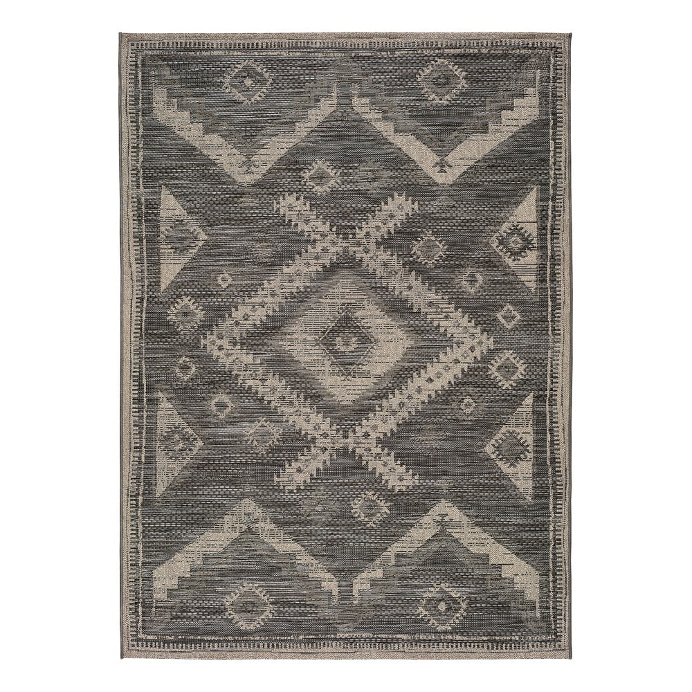 Šedý venkovní koberec Universal Devi Ethnic, 80 x 150 cm