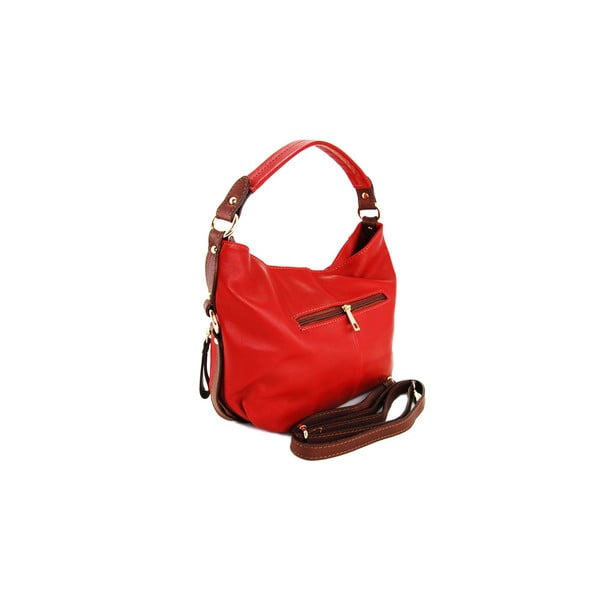 Kožená kabelka Alessia Rosso/Marrone