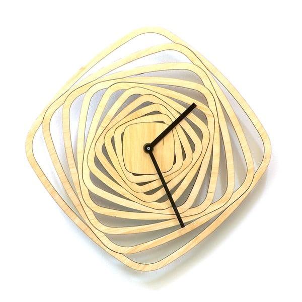 Dřevěné hodiny Whirl, 29 cm
