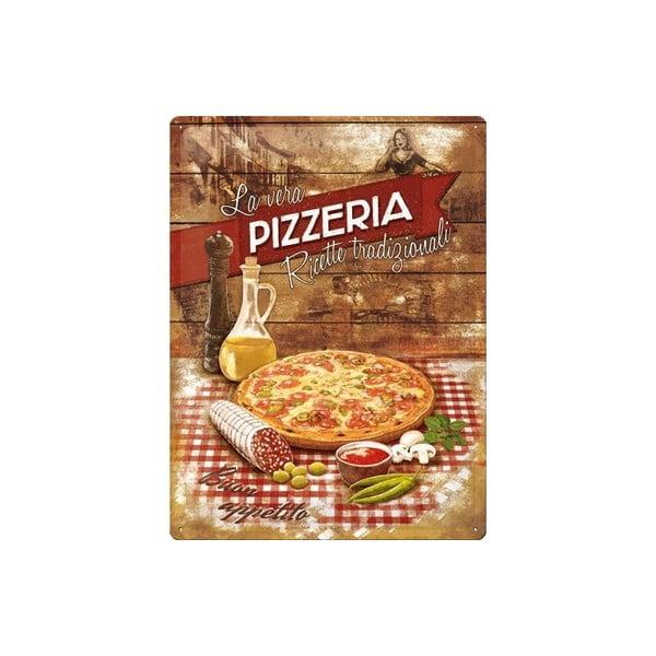 Plechová cedule Pizzeria, 30x40 cm