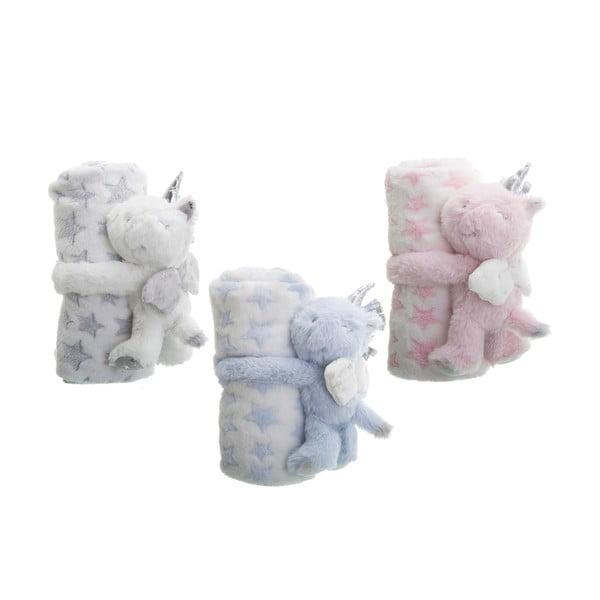 Sada 3 dětských mazlicích deček s plyšáky Unimasa Unicorn,100x75cm