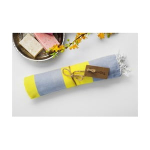 Hammam osuška Myra, šedá/žlutá