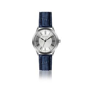 Pánské hodinky s modrým páskem z pravé kůže Walter Bach Sky