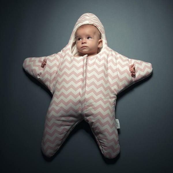 Dětský spací vak  Pink Star, vhodný i na léto, pro děti do 3 měsíců