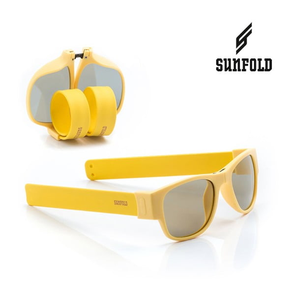 Žluté sluneční srolovatelné brýle InnovaGoods Sunfold PA5