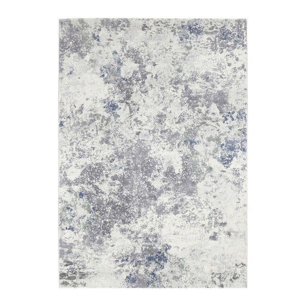 Covor Elle Decor Arty Fontaine, 160 x 230 cm, crem - albastru deschis
