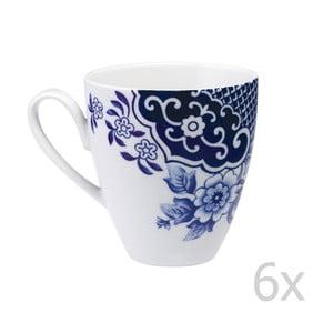 Sada 6 porcelánových hrnků Willow Love Story, 420 ml