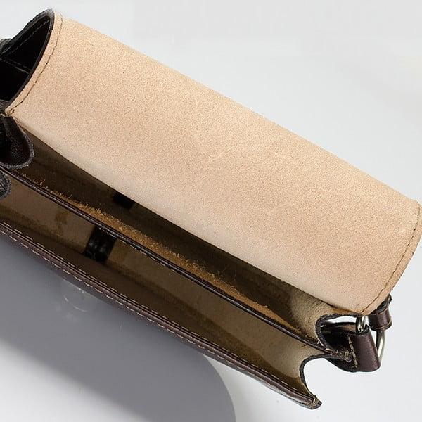 Tmavě hnědá kožená kabelka Giulia Massari Gitte