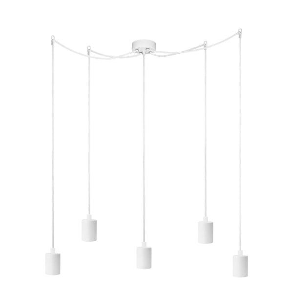 Biała lampa wisząca z 5 kablami Bulb Attack Cero Basic