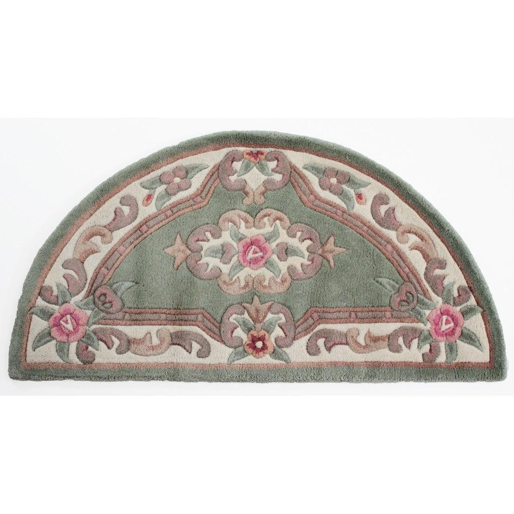 Zelený vlněný koberec Flair Rugs Aubusson, 67x127cm