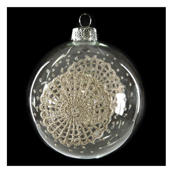 Set 6 decorațiuni din sticlă pentru Crăciun DecoKing Encaje