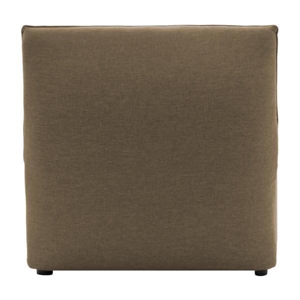 Béžový prostřední modul pohovky Vivonita Cube