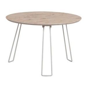 Bílý příruční stolek Zuiver Side XXL