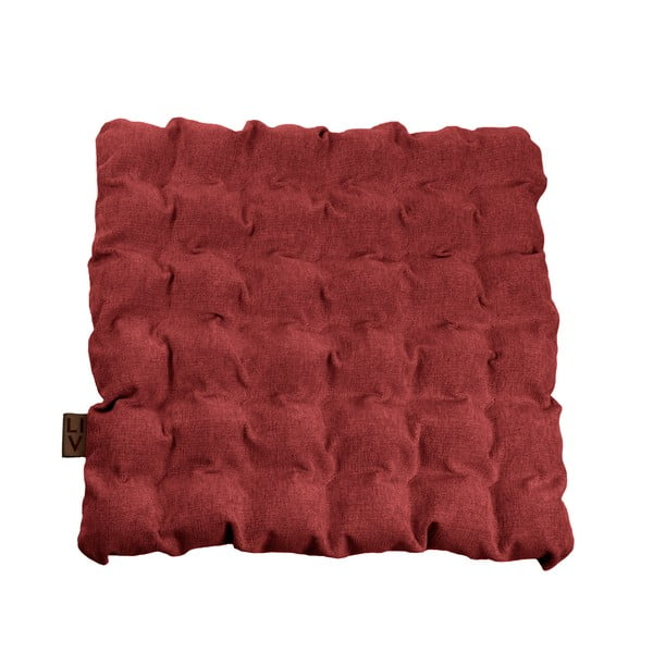 Czerwona poduszka do siedzenia z piłkami do masażu Linda Vrňáková Bubbles, 55x55 cm