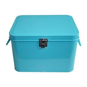 Plechový úložný box Waterquest, světle tyrkysový