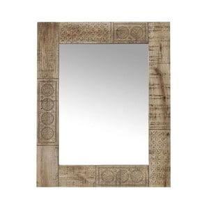 Zrcadlo s rámem z masivního mangového dřeva Massive Home Ella, délka90cm