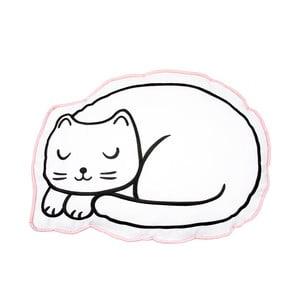 Bílý polštářek Sass & Belle Cat Nap Time
