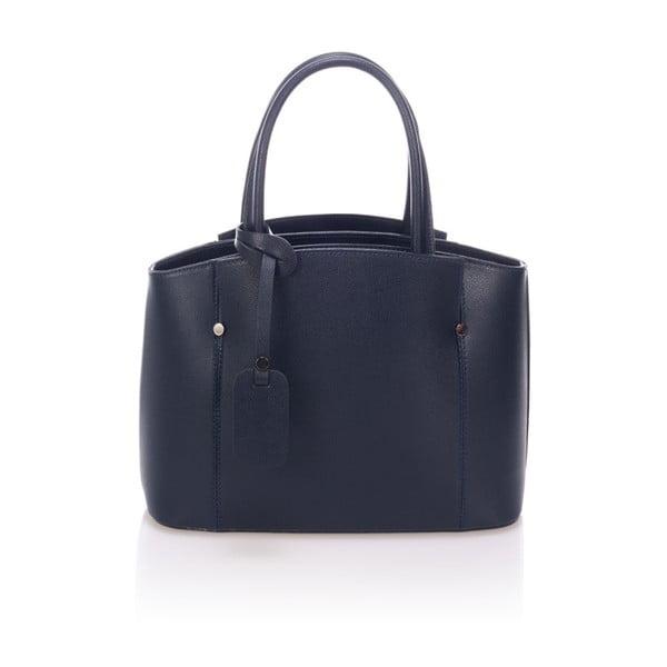 Tmavě modrá kožená kabelka Giorgio Costa Brescia