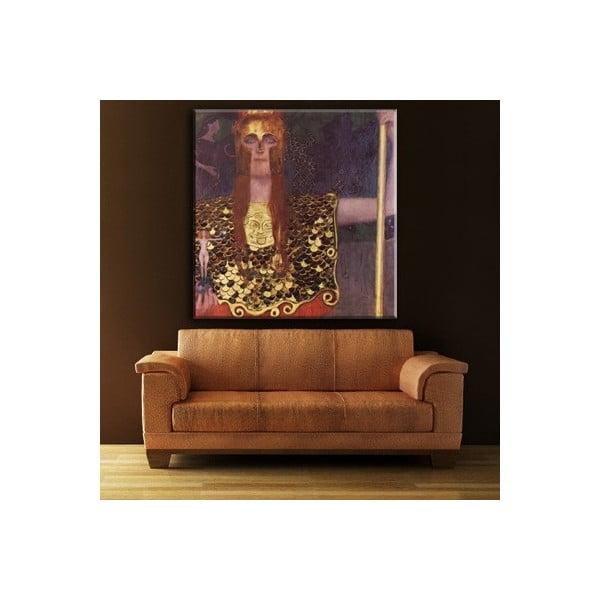 Gustav Klimt - obraz Pallas Athena, 80x80 cm