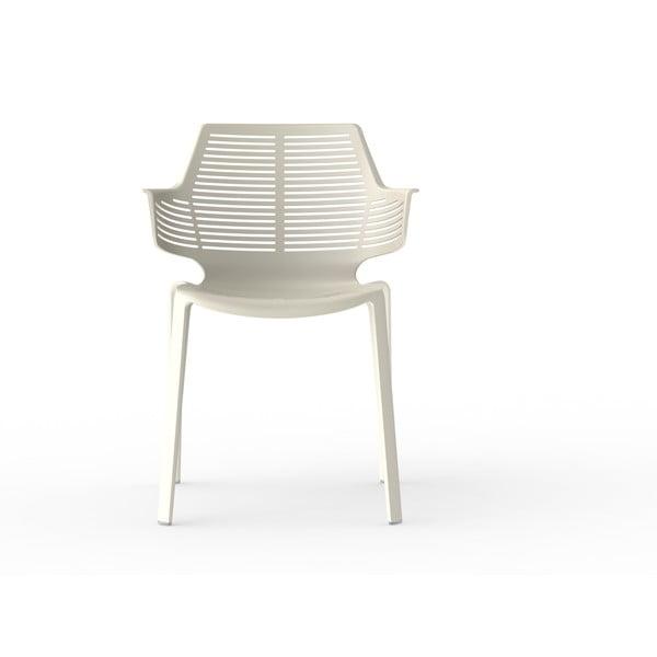 Sada 2 slonovinově bílých zahradních židlí Resol Ikona