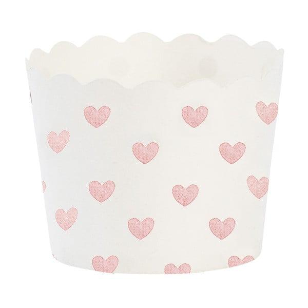 Papírové košíčky na muffiny Rose Heart, 24 ks