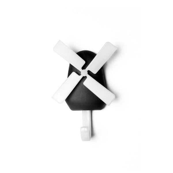 Czarny wieszak Qualy&CO Windmill