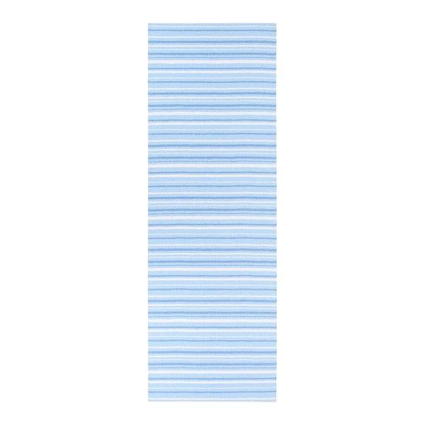 Modro-bílý běhoun vhodný do exteriéru Narma Hullo, 70x350cm