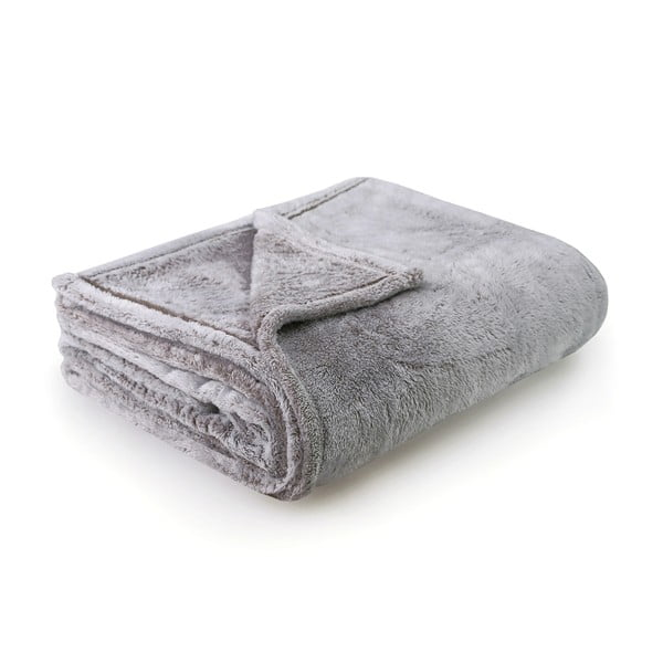 Sivo-hnedá deka z mikrovlákna DecoKing Fluff Cappuccino, 170 x 210 cm