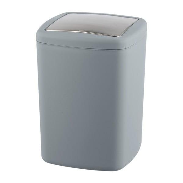 Šedý odpadkový koš Wenko Barcelona L, výška 28,5 cm