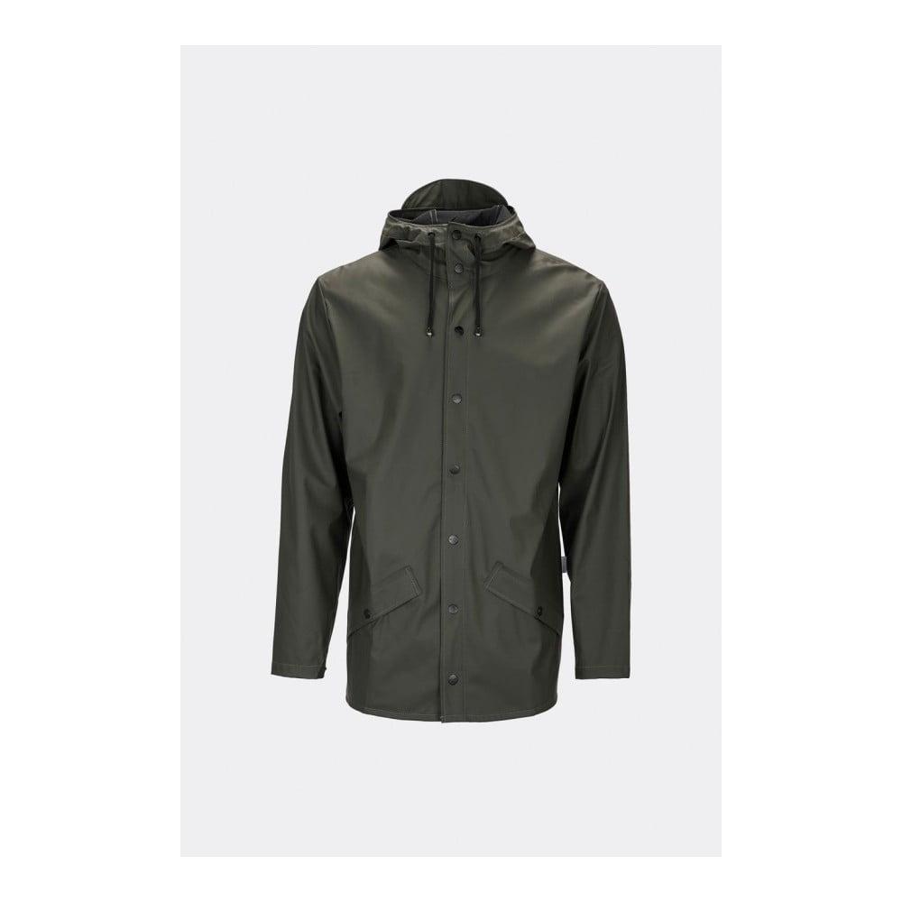 Tmavě zelená unisex bunda s vysokou voděodolností Rains Jacket, velikost XS/S