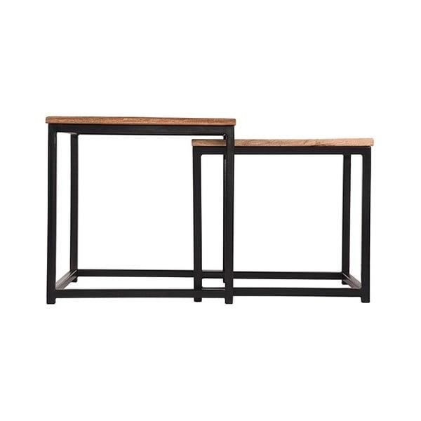 Sada 2 odkládací stolků zmangového dřeva LABEL51 Twain, šířka45cm a39cm
