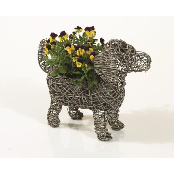 Dekorativní ratanový květináč Dog Planter
