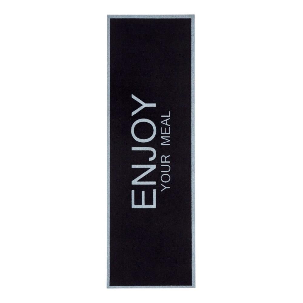 Černý kuchyňský běhoun Zala Living Enjoy, 50 x 150 cm