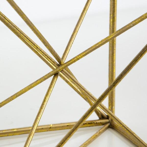 Dekorace ve zlaté barvě Thai Natura Geometric, 15x15cm