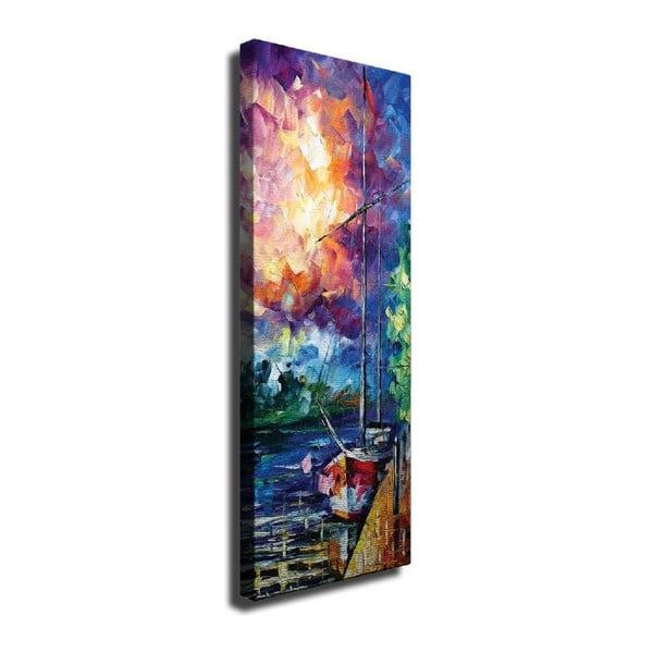 Harbour vászon fali kép, 30 x 80 cm