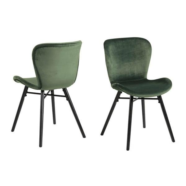 Zelená jídelní židle Actona Batilda