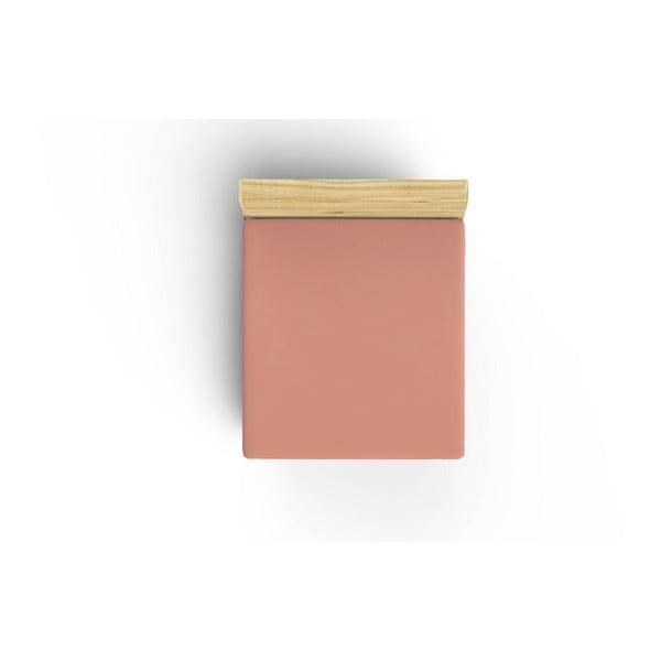 Bavlněné prostěradlo Peach, 160x200cm