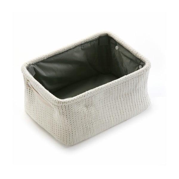 Úložní košík Cream Knitted, 36x18 cm