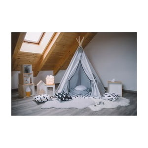 Pětiúhelníkové teepee VIGVAM Design Grey and Black