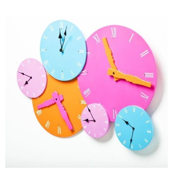 Nástěnné hodiny Colores Rosa